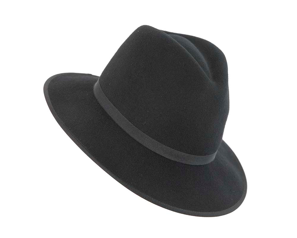 Black fashion fedora hat by Cupids Millinery