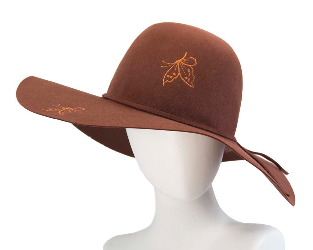 Exclusive wide brim rabbit fur hat Made in Europe