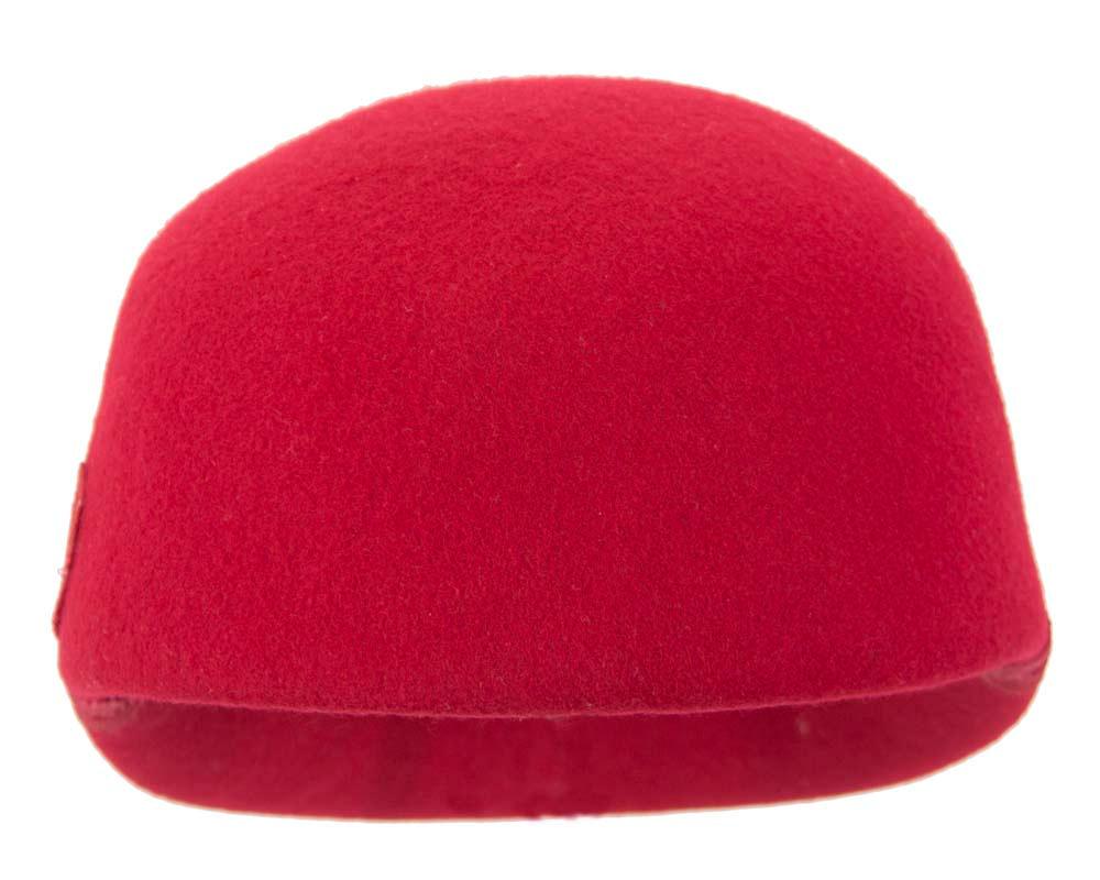 Large red felt cap