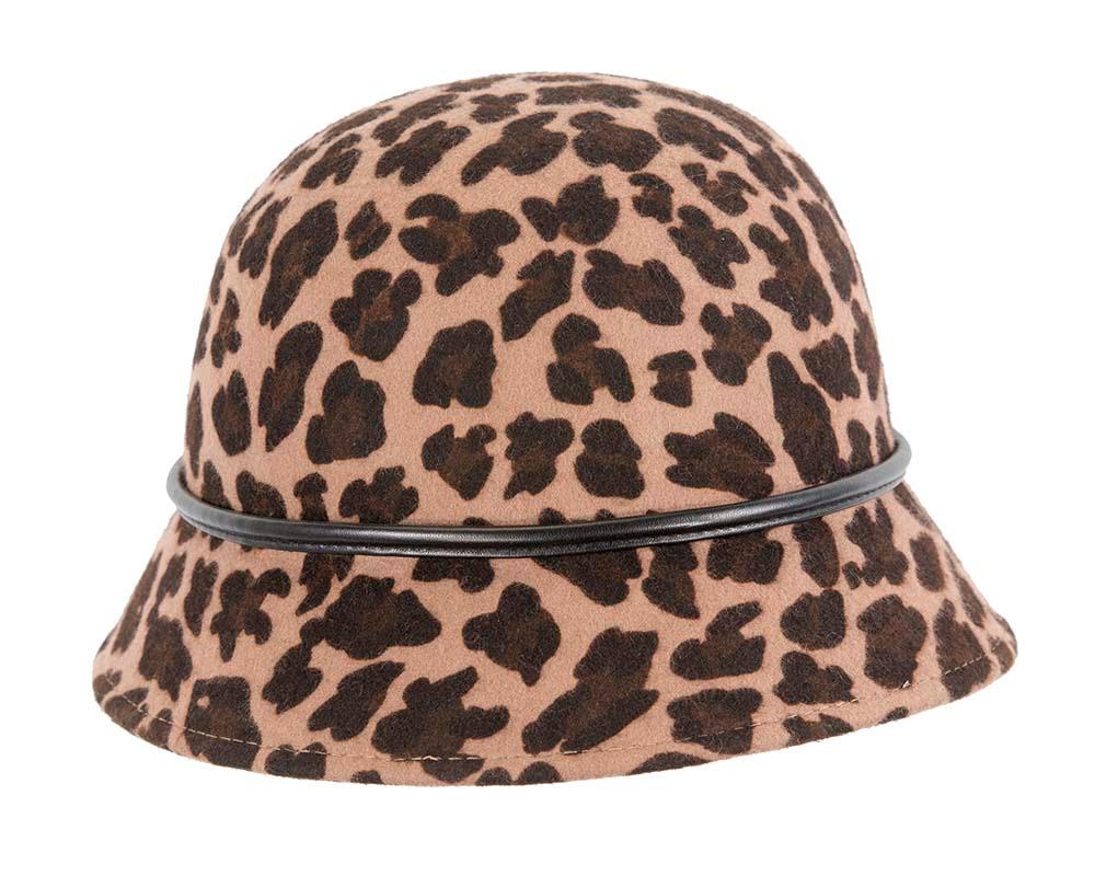 Leopard fashion winter bucket hat by Betmar NY