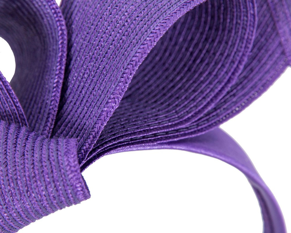 Large purple bow racing fascinator by Max Alexander