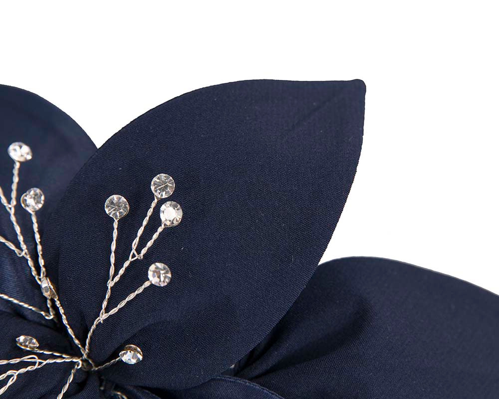 Navy Fascinator comb for Mother of the Bride special occasions