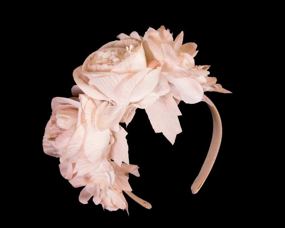 Blush flower headband by Max Alexander