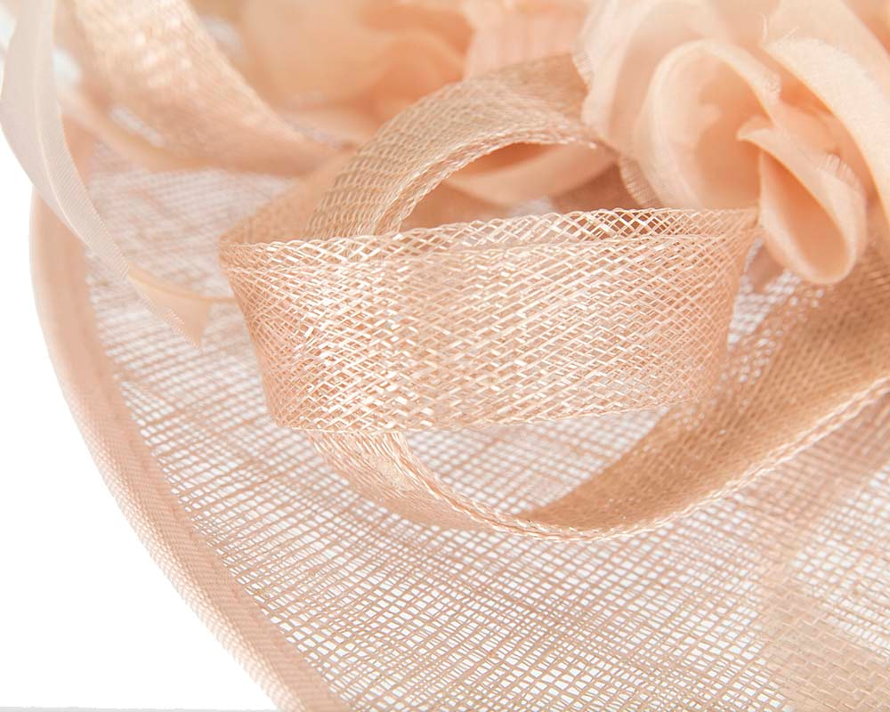 Large nude plate hatinator by Cupids Millinery Melbourne