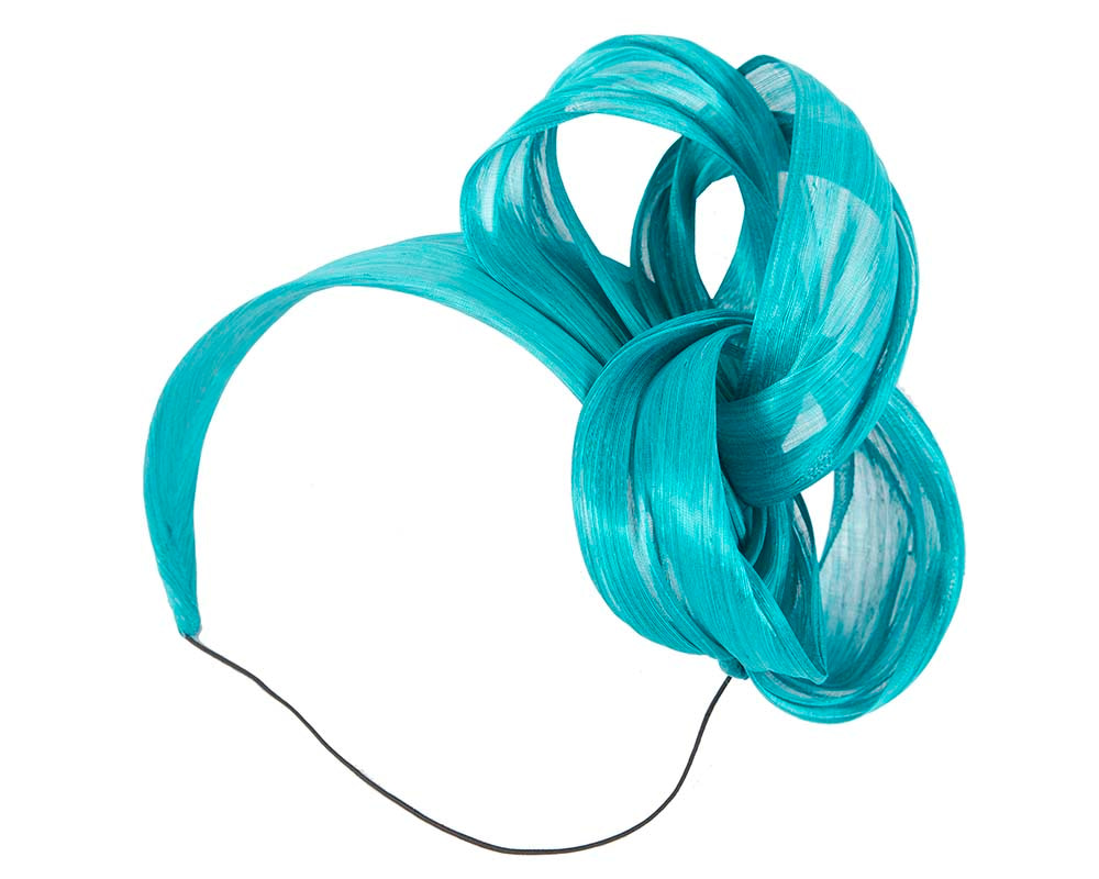 Turquoise retro headband by Fillies Collection