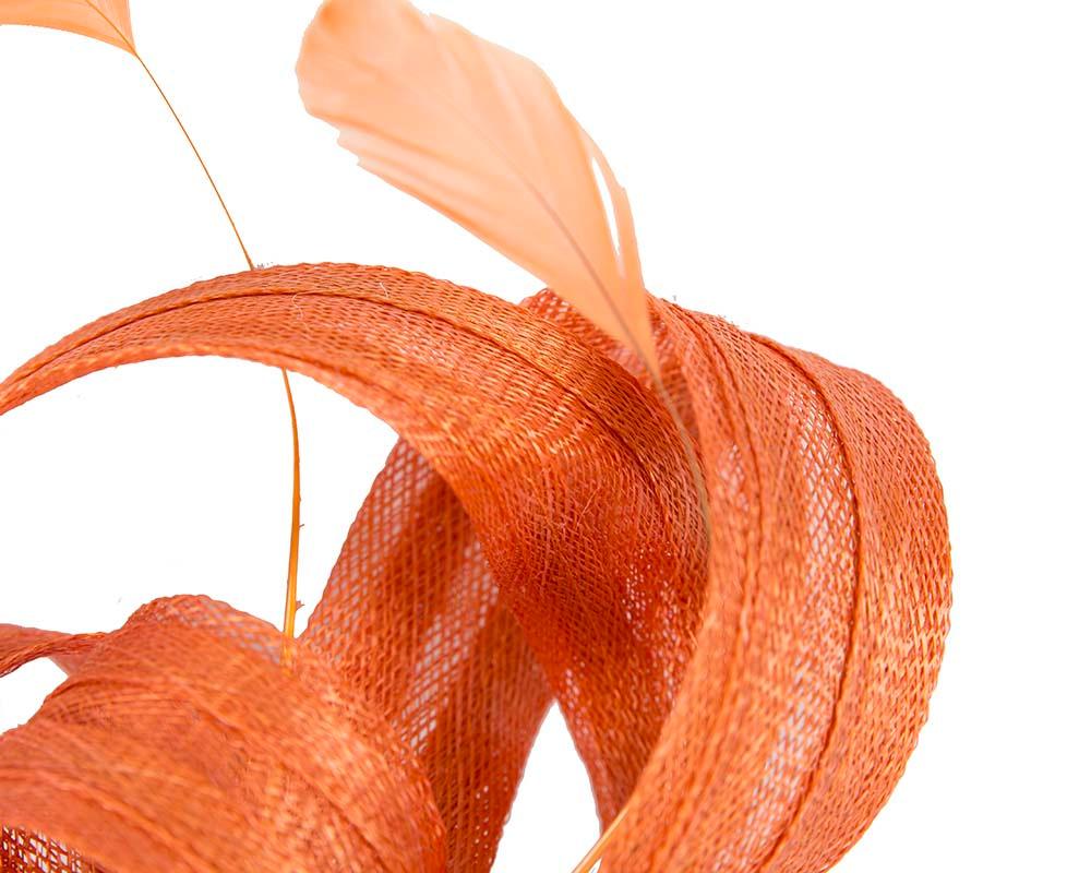 Orange loops racing fascinator by Max Alexander
