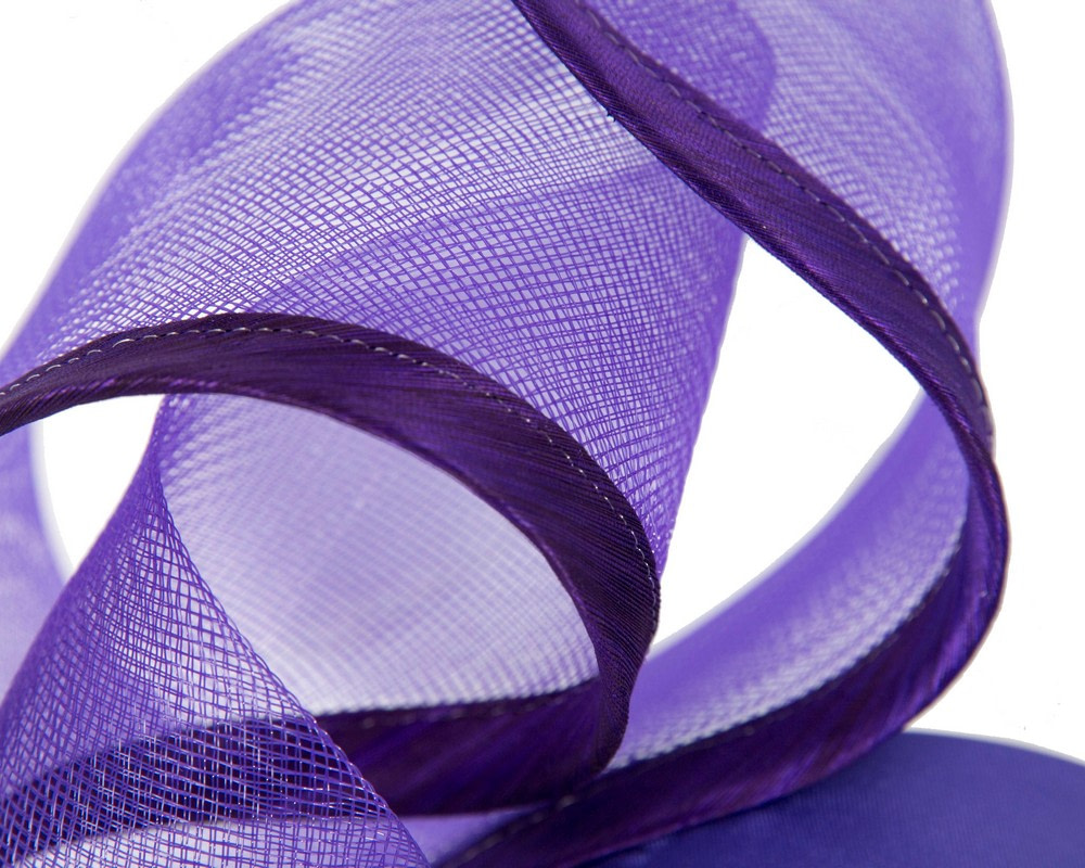 Sculptured purple racing fascinator by Fillies Collection
