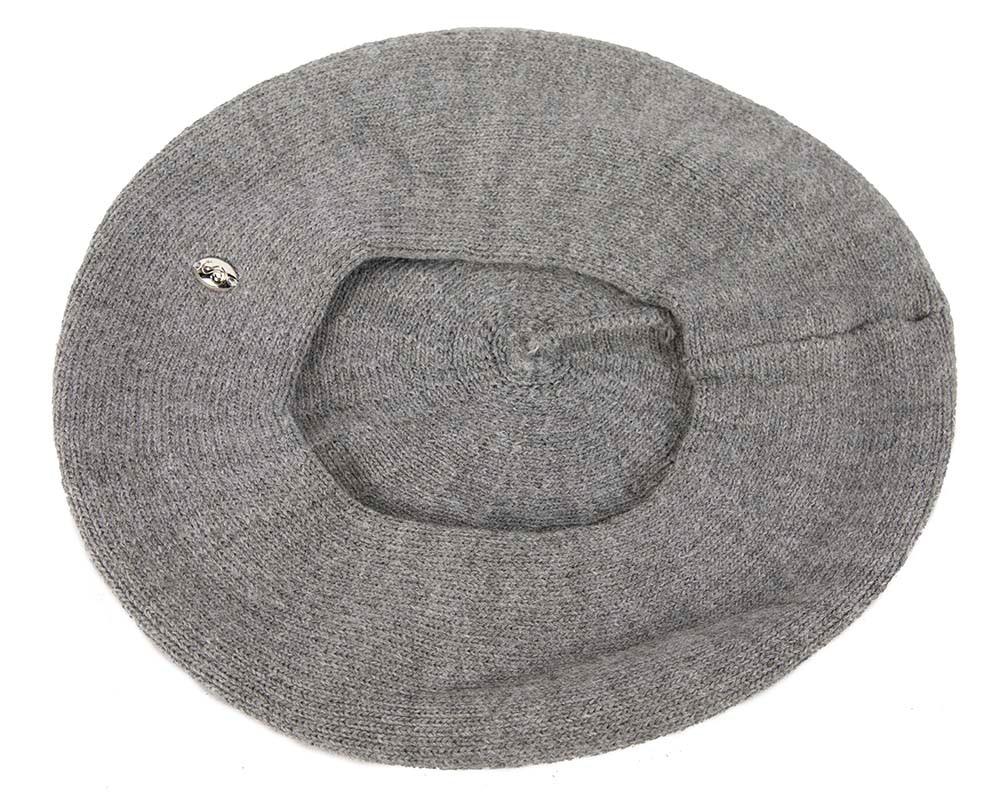 Classic woven dark grey beret by Max Alexander