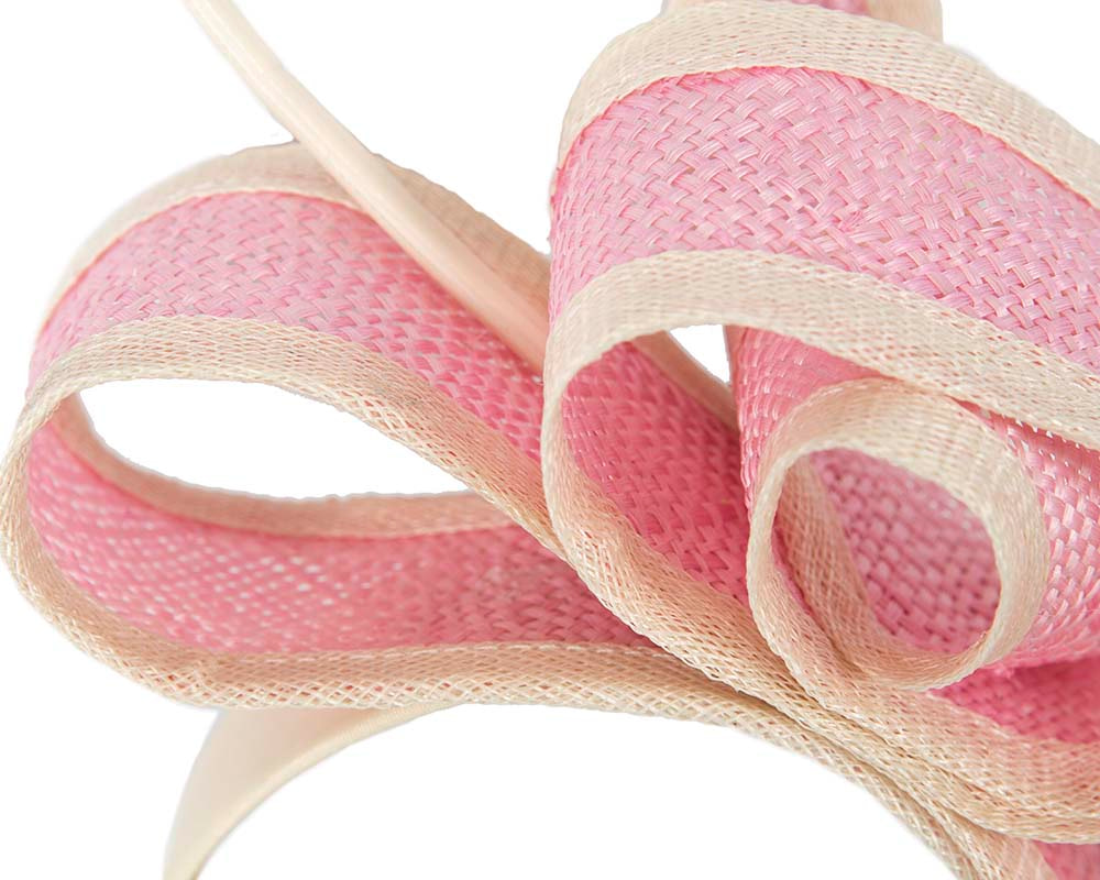 Dior pink bow racing fascinator by Max Alexander