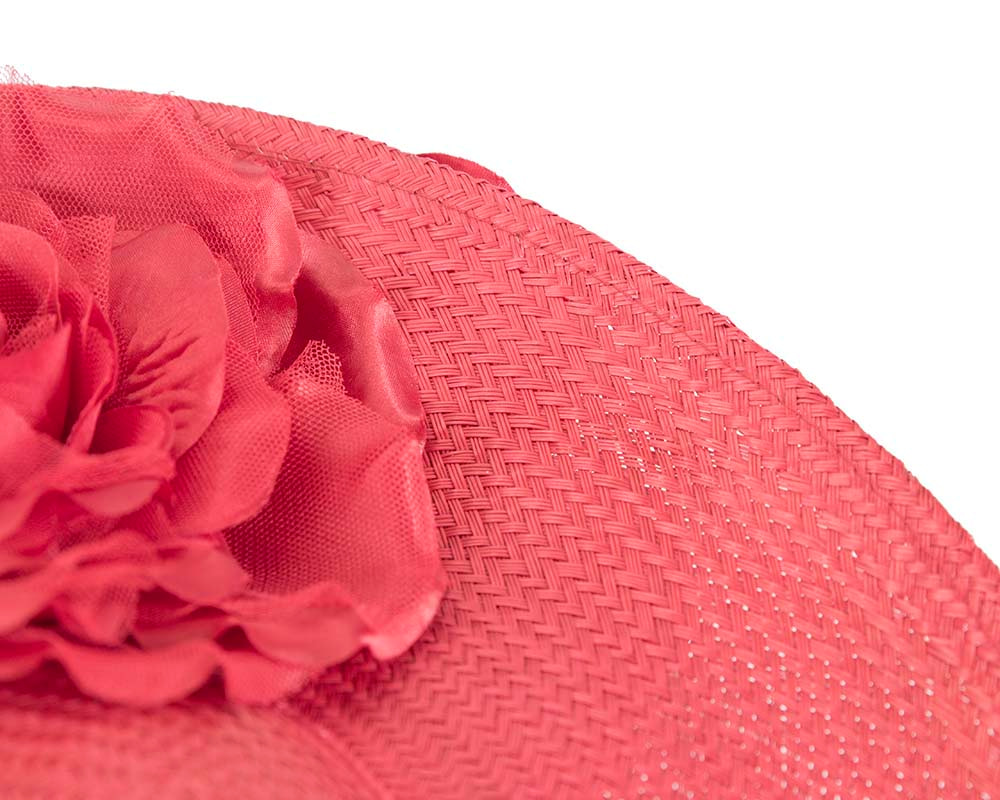 Large red racing fascinator hat
