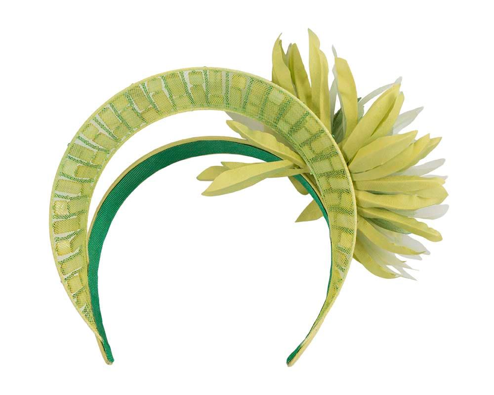 Exclusive green crown fascinator