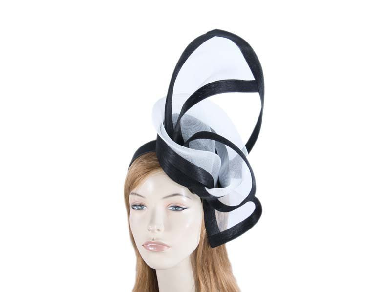 Black & cream edgy racing fascinator by Fillies Collection