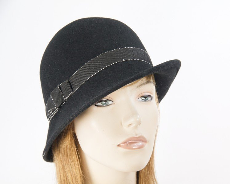 Black Max Alexander felt bucket cloche hat
