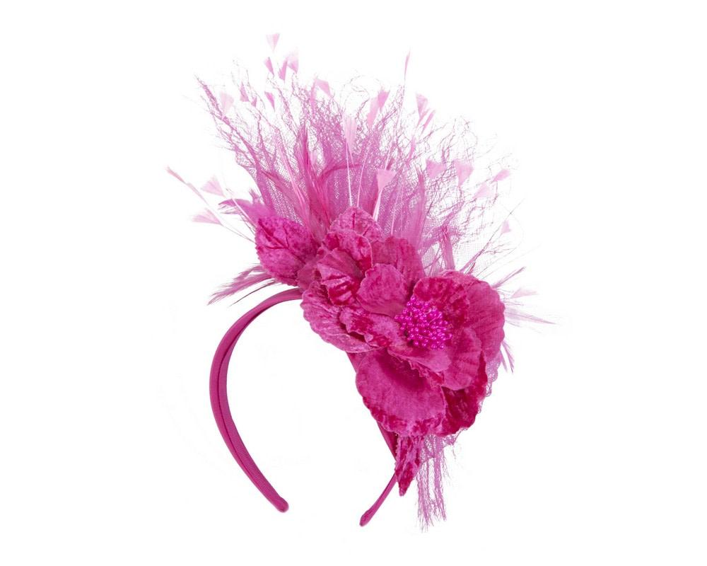 Fuchsia designers flower fascinator