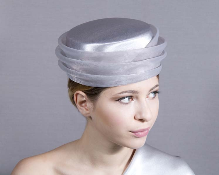 Large custom made pillbox mother of the bride hat
