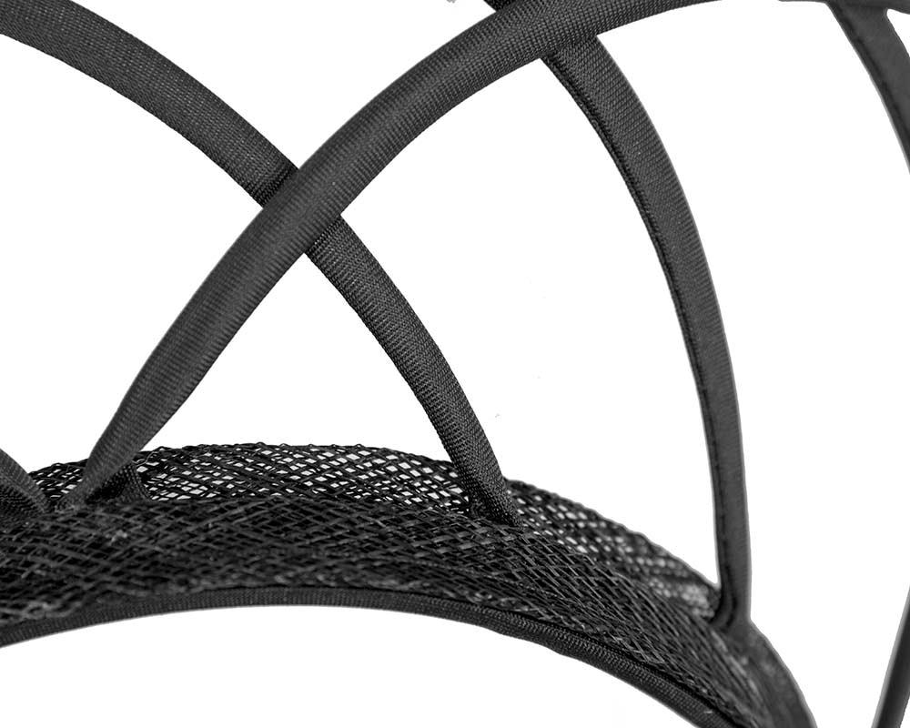 Designers black crown fascinator by Max Alexander