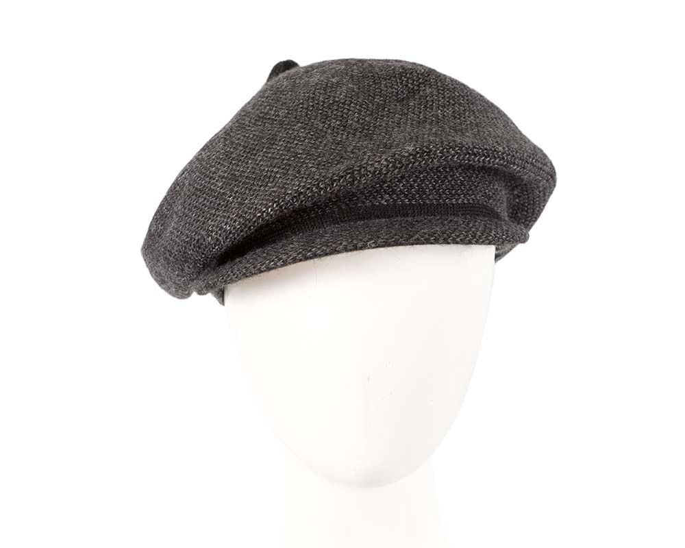 Classic wool woven charcoal cap by Max Alexander
