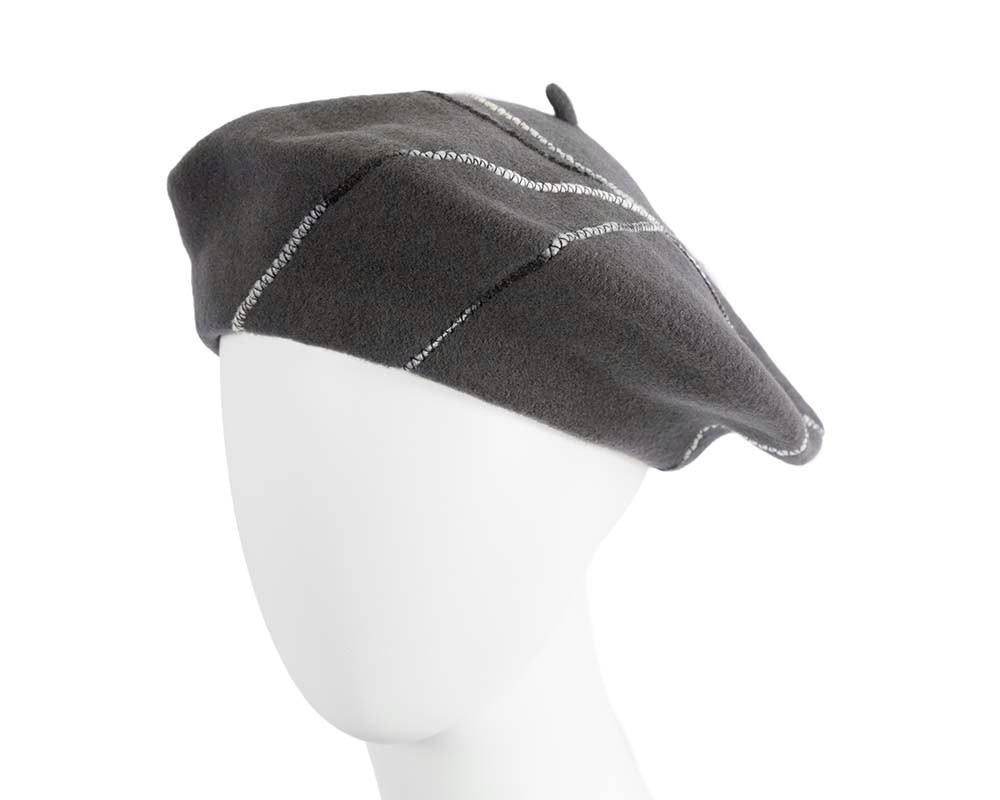 Grey french beret with spirals by Max Alexander