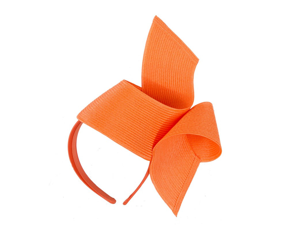 Modern orange fascinator by Max Alexander