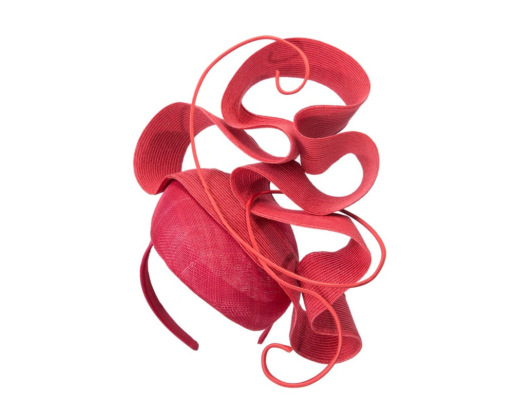 Red designers racing fascinator by Fillies Collection