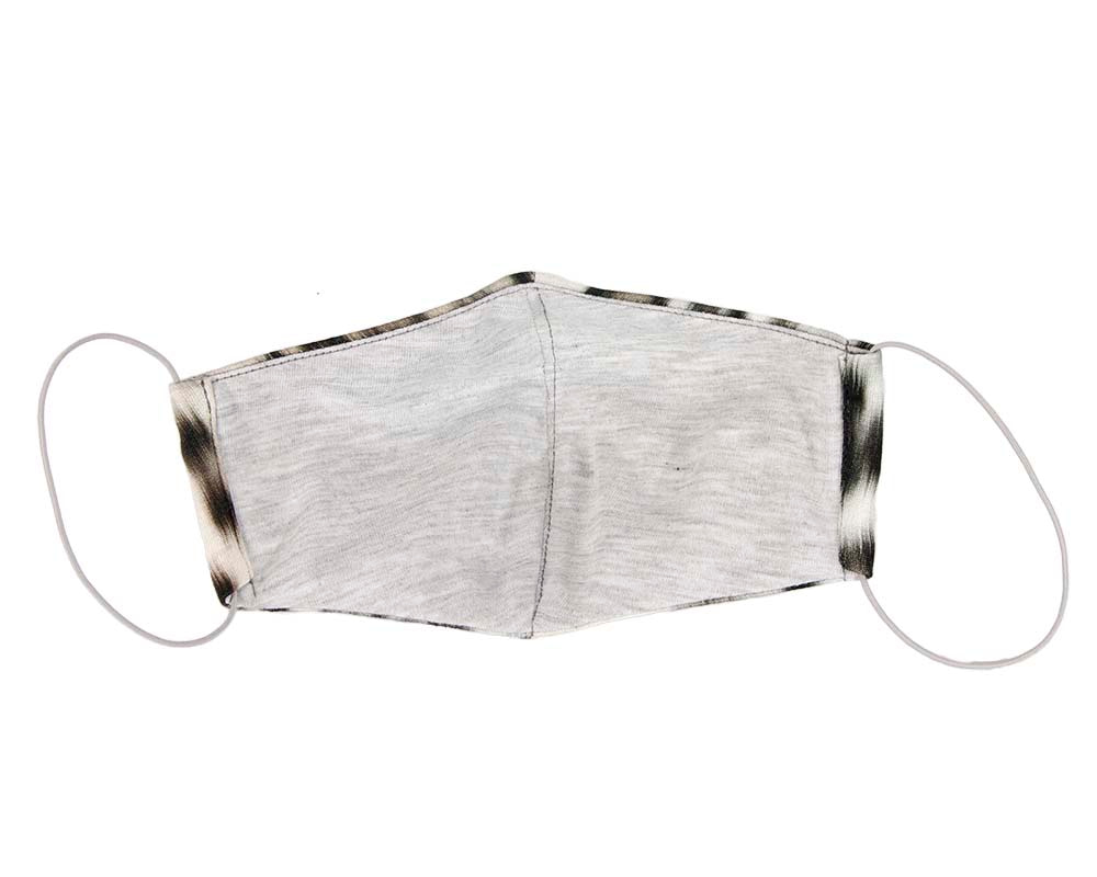 Comfortable re-usable face mask cotton jersey leopard print