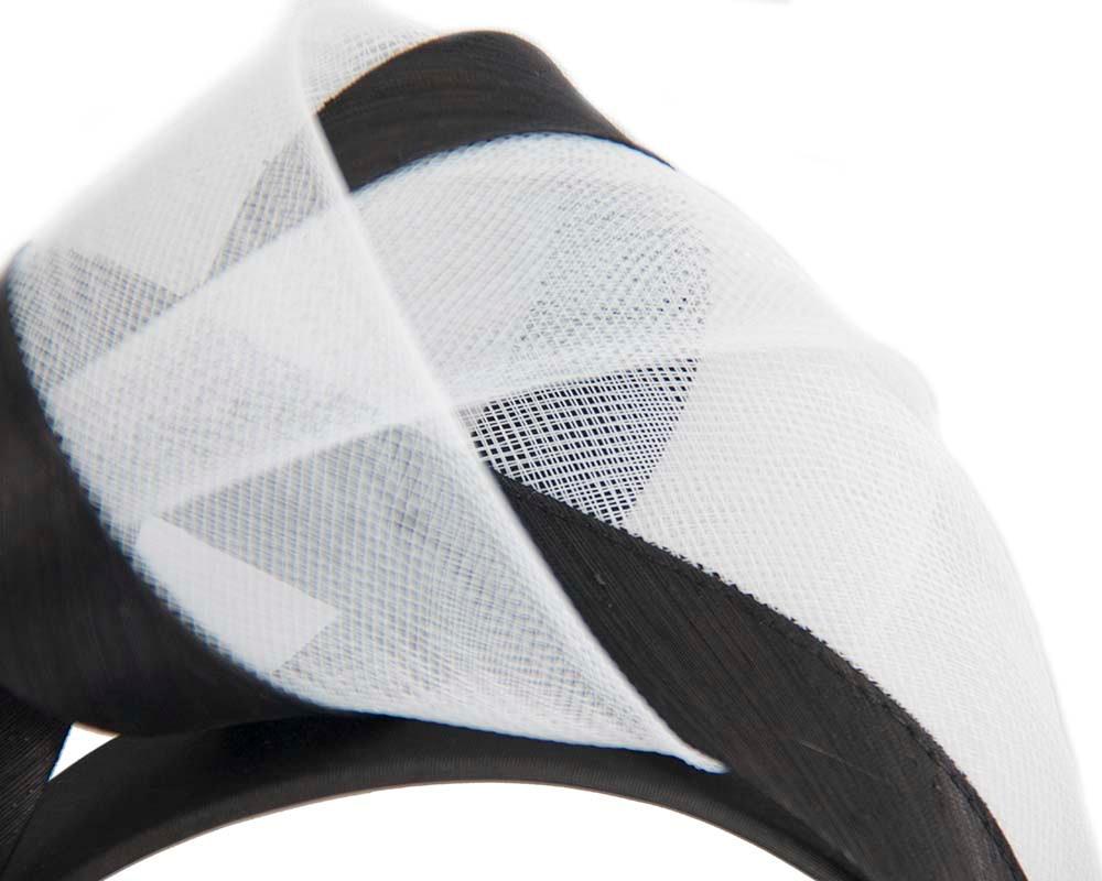 Black & white fashion headband turban by Fillies Collection