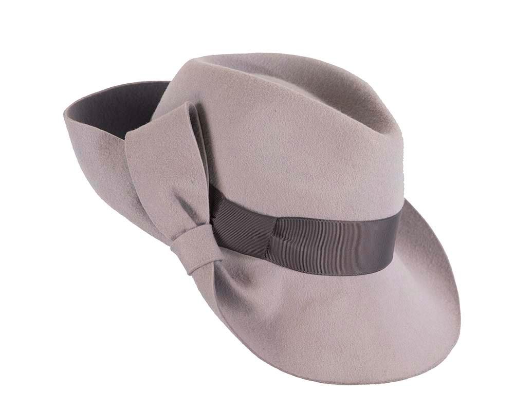 Designers wide brim fedora hat by Cupids Millinery