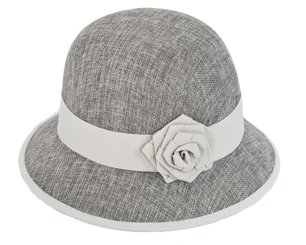 Silver cloche hat by Max Alexander