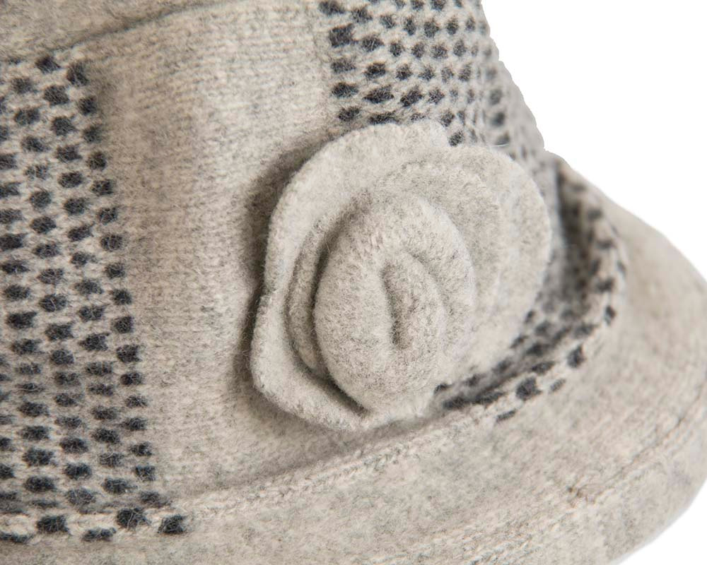 Soft grey winter bucket hat by Max Alexander