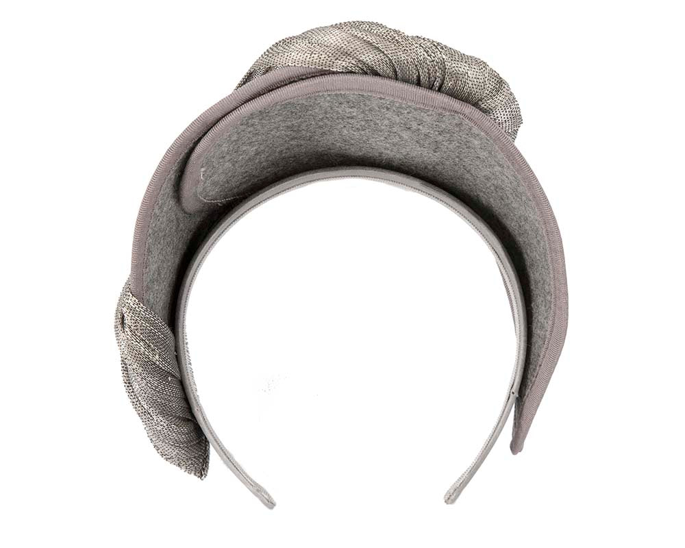 Silver crown winter fascinator by Fillies Collection