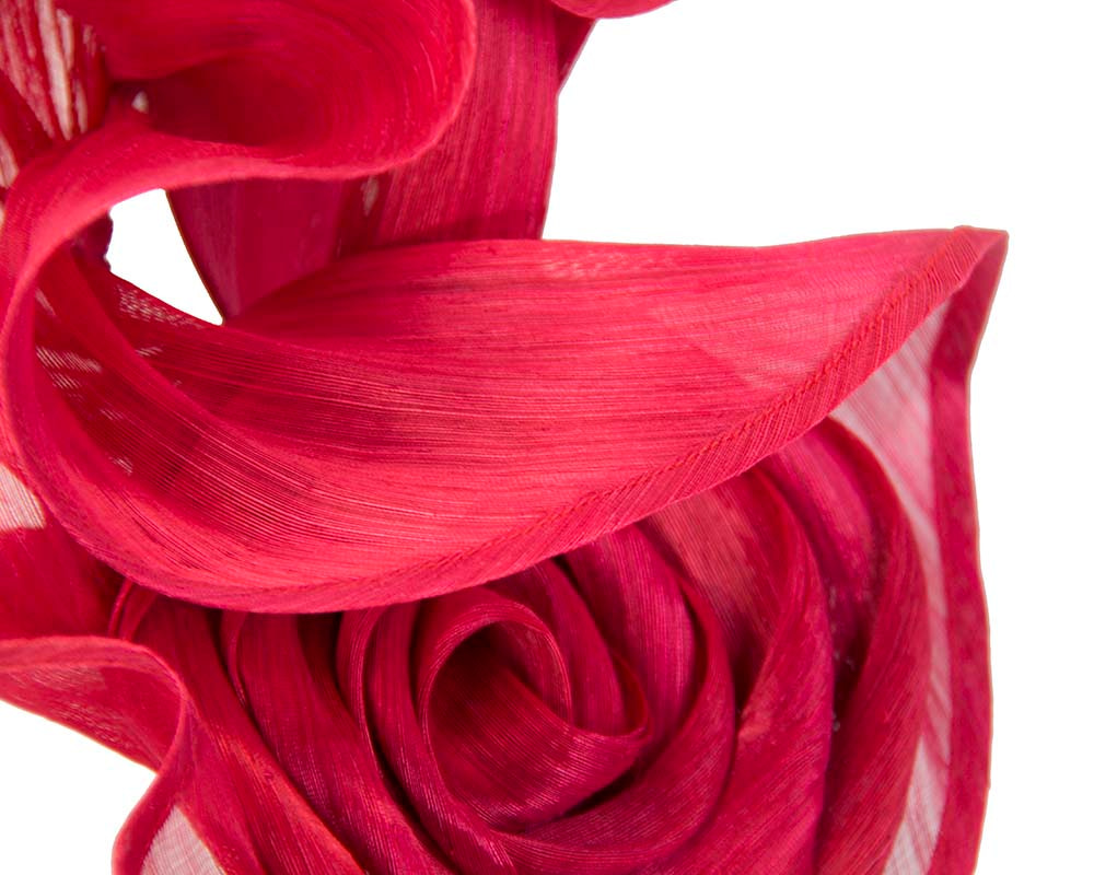 Twisted red designers fascinator by Fillies Collection