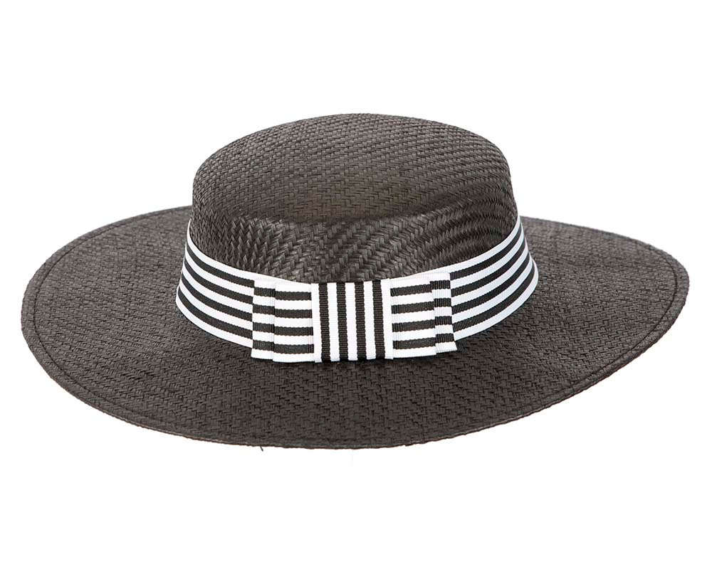 Black and White boater hat by Max Alexander
