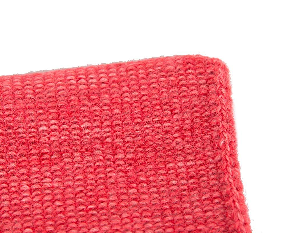 European made woven coral beanie