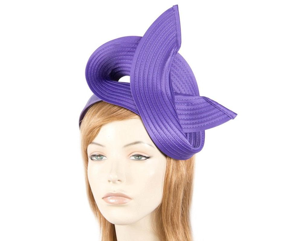 Purple swirl fascinator