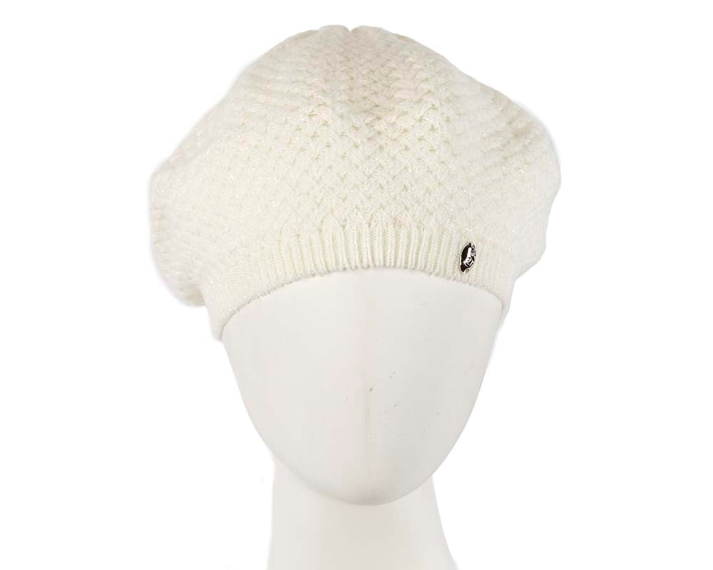 Crocheted wool pearl beret by Max Alexander