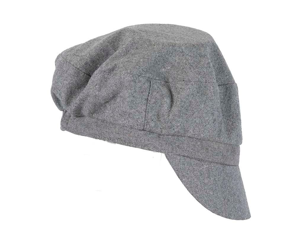 Grey ladies casual newsboy cap hat