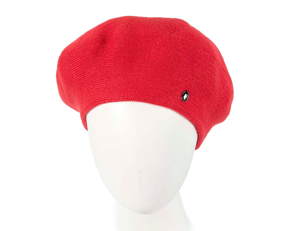 Classic woven red beret by Max Alexander