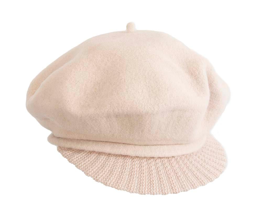 Warm cream winter newsboy cap by Max Alexander
