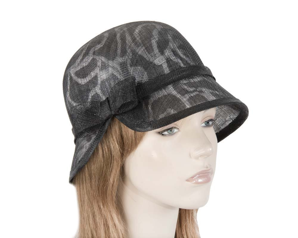 Unusual black white cloche bucket hat for Melbourne Cup Ascot Derby buy online in Aus MA596BW