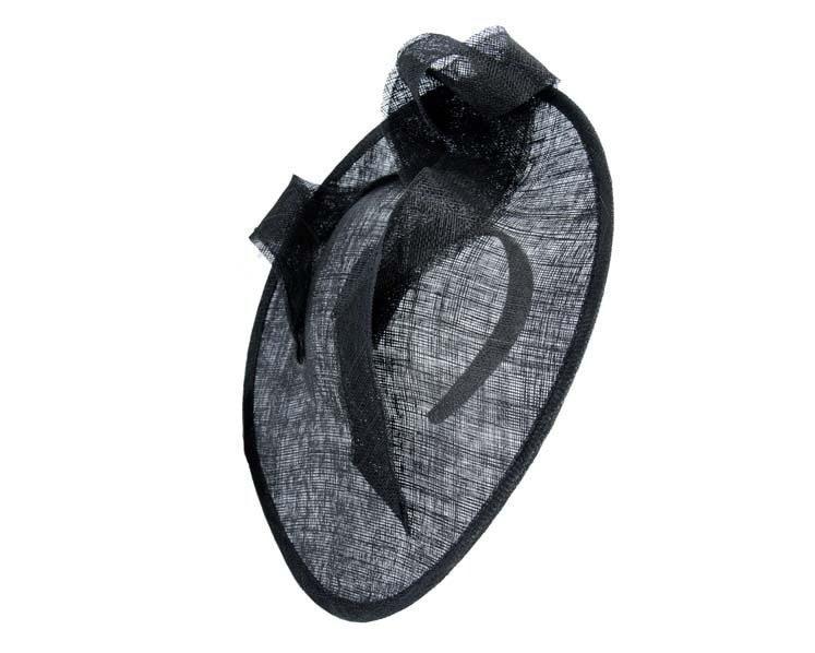 Large black sinamay hatinator