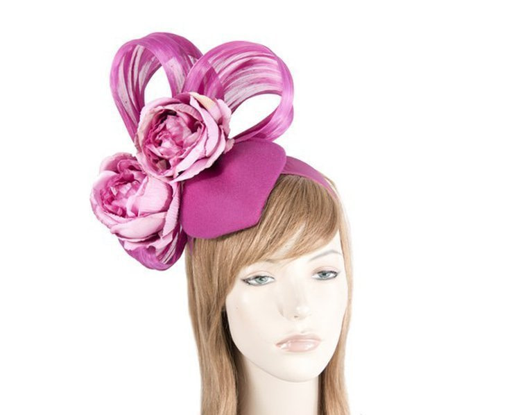 Bespoke Fuchsia Winter fascinator
