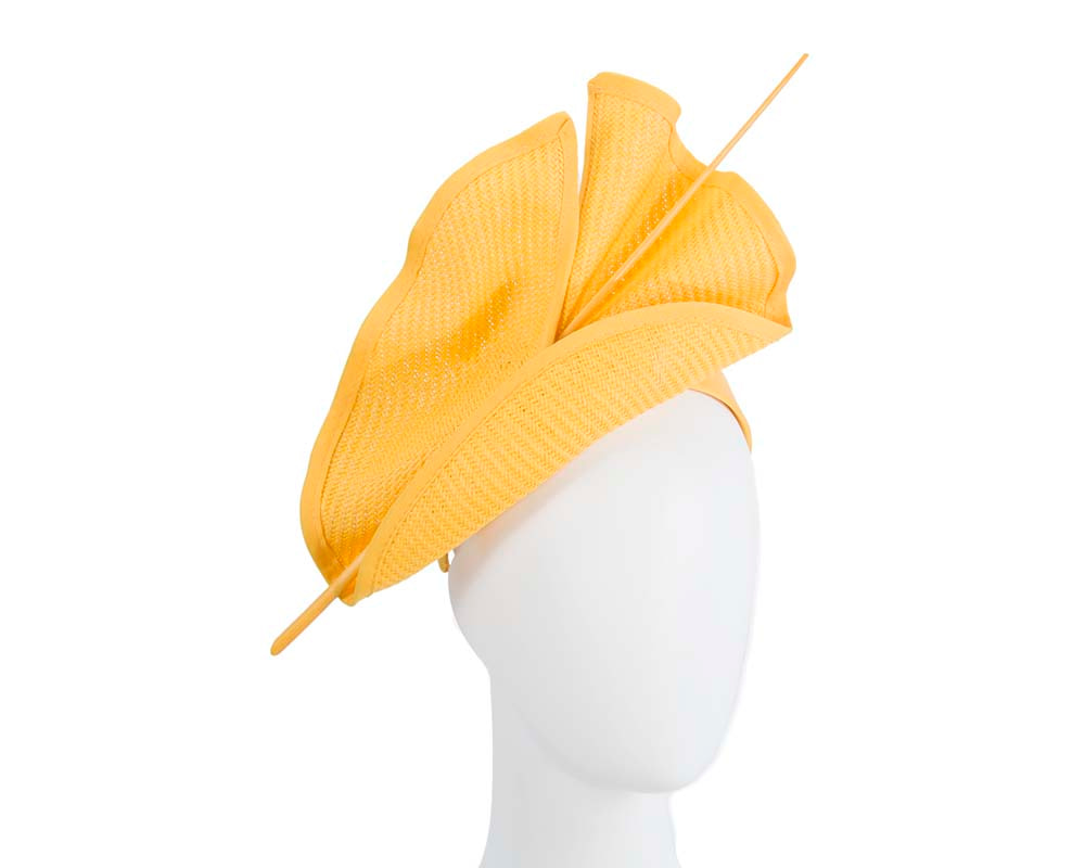 Bright yellow Max Alexander racing fascinator made in Australia