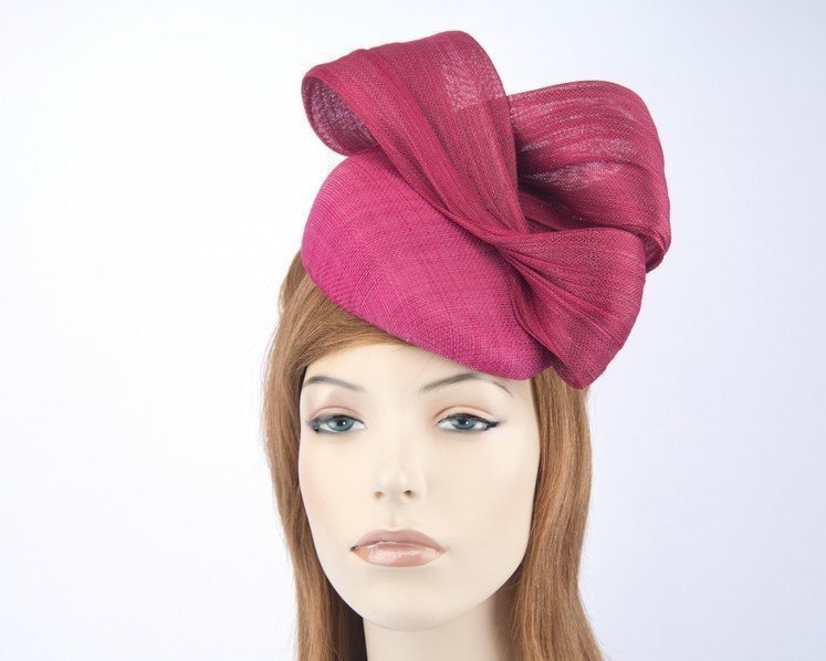 Fuchsia pillbox fascinator for Melbourne Cup races by Fillies Collection