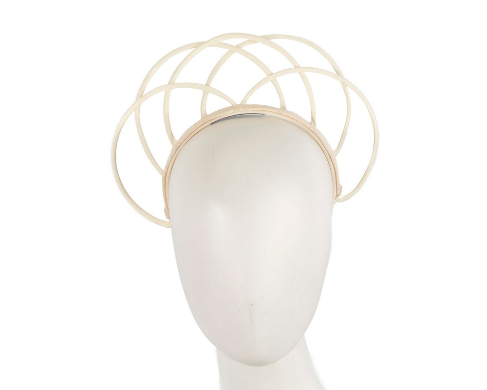 Designers ivory crown fascinator by Max Alexander