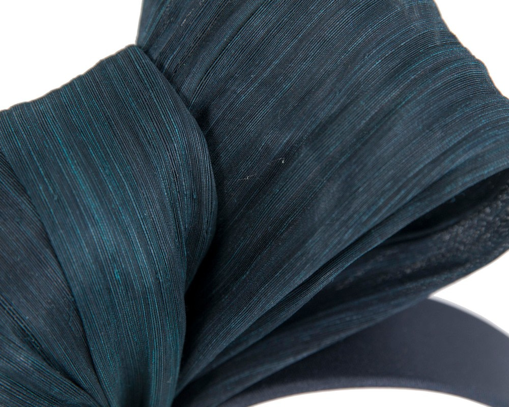 Exclusive navy silk abaca bow by Fillies Collection