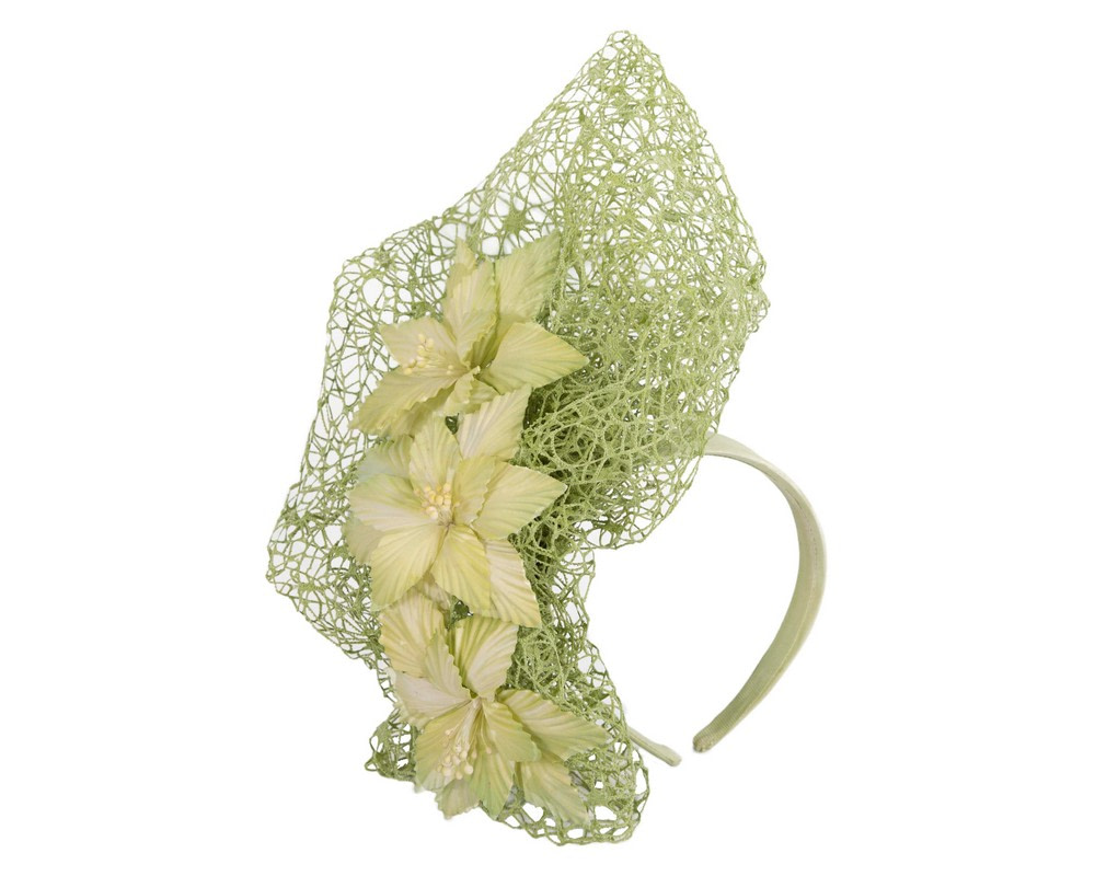 Staggering green racing fascinator by Fillies Collection