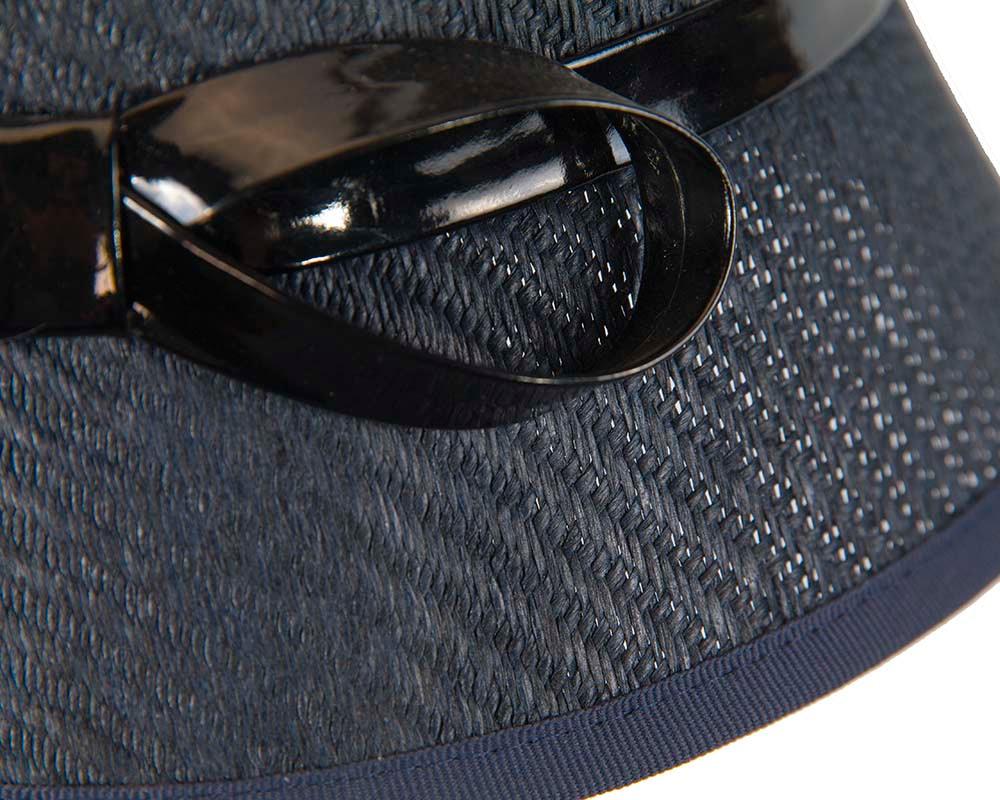 Navy ladies fashion cloche hat by Max Alexander