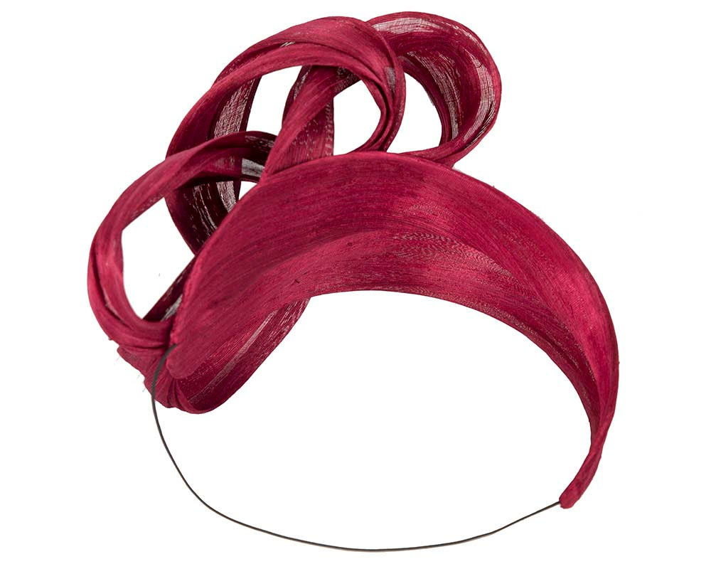 Burgundy retro headband by Fillies Collection