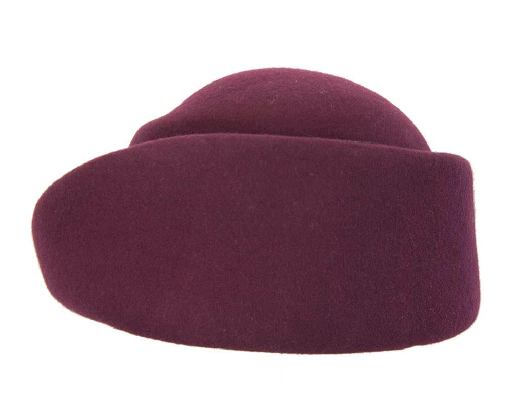 Unique wine ladies winter felt fashion hat