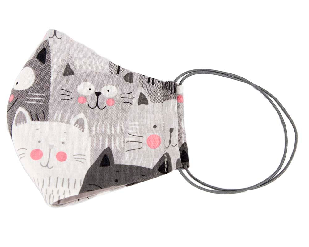 Comfortable re-usable cotton face mask for cats lovers